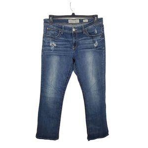 BKE Jeans Womens 34x31 Payton Straight Leg High Rise Medium Wash Distressed